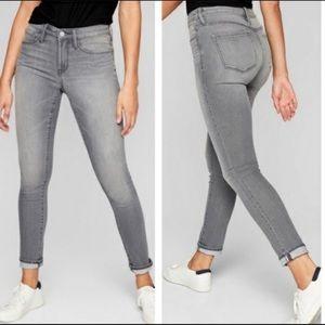 Athleta Sculptek Gray Wash Skinny Jeans Size 10